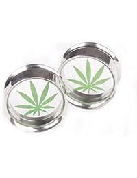Gudeke Marihuana cannabis deja malezas Pendiente Dispositivo auricular de extensión de oído