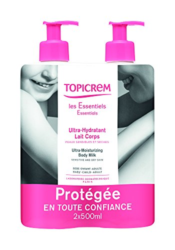 Topicrem Ultra Hydratant Lait Corps 2x500 ml