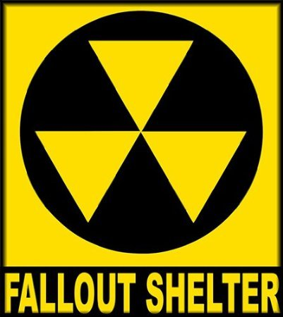 leber / JDM Die Hart - Fallout Shelter Sign Bumper Sticker 114mmX127mm (Fallout Shelter Sign)