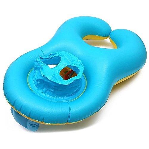 Inflable Bebé Asiento BeautyPO Inflable Madre Bebé Piscina natación anillo Bebé Inflable Juguetes de Piscina con Silla de Seguridad para la Actividad Familiar