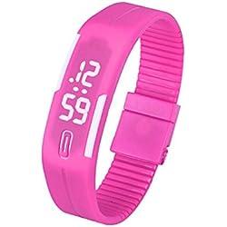FEITONG Fashion New Mens Womens Rubber LED Watch Date Sports Digital Wrist Watch