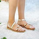 PLMOJN99 Sandales pour Femmes Bohême Tête Ronde Talon Peu Profond Style Chaussures...