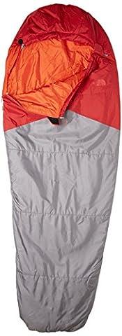 The North Face Unisex Aleutian Light Left Hand Zip Regular Sleeping Bag, Cardinal Red/Zinc Grey