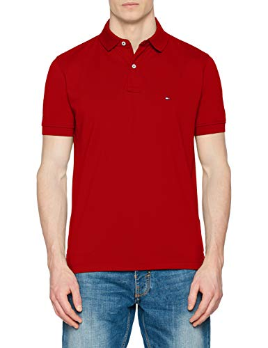 Tommy Hilfiger Herren Tommy Regular Polo Poloshirt, Rot (Haute Red 611), Herstellergröße: XX-Large - Red Golf-polo-shirt