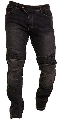 Qaswa Herren Motorradhose Jeans Motorrad Hose Motorradrüstung Schutzauskleidung Motorcycle Biker Pants