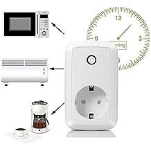 Wlan Steckdose WiFi Smart Intelligente Steckdose mit Fernsteuerung inkl Zeitsteuerung Energiesparfunktion und USB Anschluss über Android/iOS-App