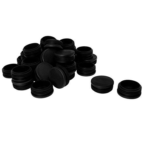 uxcell Kunststoff Rund Tube Legen Glide Gap Cover Pad für Deck Möbel Schrank Schreibtisch Füße Kappen verhindert Kratzer 32Stück 50mm 32pcs