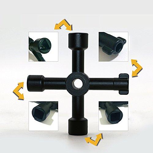 Hrph Universal-Kreuzschlüssel-Dreieck-Schlüssel-Schlüssel für Zug-elektrisches Aufzug-Schrank-Ventil-Legierungs-Dreieck / Quadrat