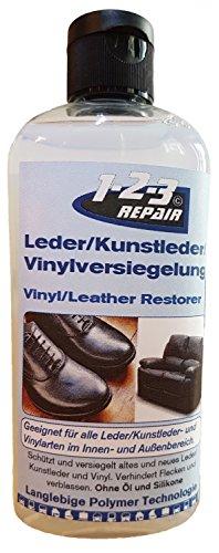 Sitzen, Leder-möbel (123Repair Lederversiegelung Kunstlederlversiegelung Sattelpflege - Lederversiegeln und pflegen - Eignet sich auch hervorragend für Kunstlederbezüge auf Liegen in z.B. Massagepraxen, Arztpraxen und Waxing Studios)