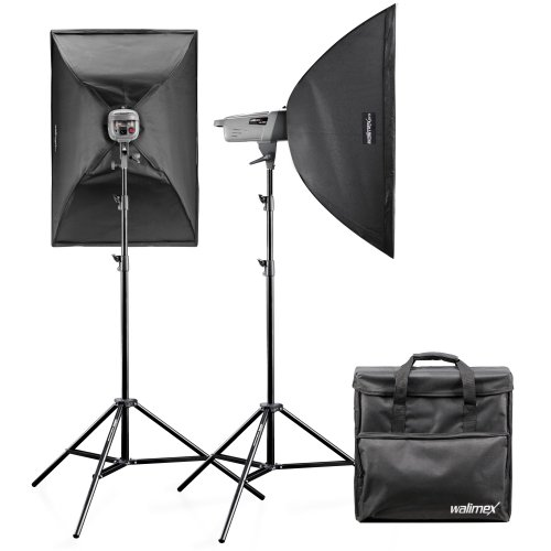 walimex pro VE 2.2 Studio Lighting Set with Remote Trigger/Studio Flash/Reflex Umbrell
