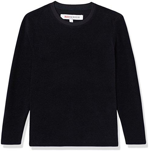 RED WAGON Fleece Jungen, Schwarz, 122 (Herstellergröße: 7 Jahre) (Shirt Langarm Pullover Fleece)