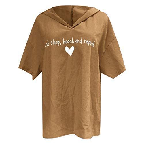 , Bluse Kurzarm Sommer Freizeit Ärmellos V-Ausschnitt Schmetterling Sling Druck Oberseiten T-Shirt Weste Oberteil Top (Gelb, XX-Large) ()