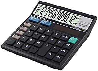 SaleOn CT-512 12 Digit Financial and Business Calculator(Black)-693
