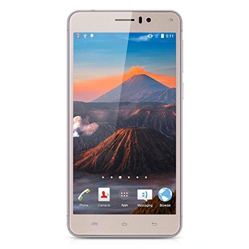 Landvo XM100 Plus Dual SIM 3G Smartphone 5.5'' Zoll ohne Vertrag Android 5.1 Quad Core 1.3GHz IPS HD Screen 8MP Kamera 2GB RAM+16GB ROM Handy Smart Wake WIFI Gold