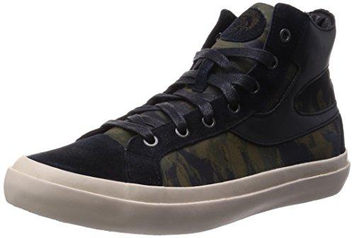 Diesel S-Kwaartzz - Hommes Chaussures Noir / Olive Nuit