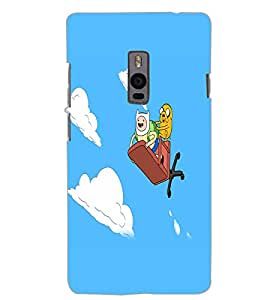 ONE PLUS TWO CARTOONS Back Cover by PRINTSWAG