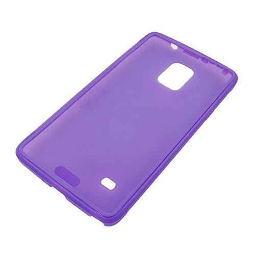 wkae Schutzhülle Fall und Abdeckung horizontal Flip Touch Bildschirm Frosted TPU Schutz Hülle für Samsung Galaxy Note 4/N910 violett