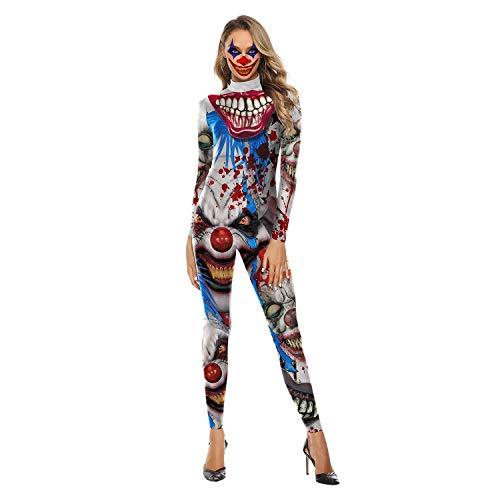 Stadt Frauen Horror Kostüm Party - Memory meteor Frauen Cosplay Halloween Kostüm Horror Ghost Dead Corpse Kleid Halloween Cosplay Overall,XS