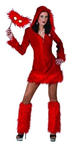 erdbeer-clown - Damen Halloween Karneval Kostüm Dämonen Set, böser Teufel, S/M, Rot