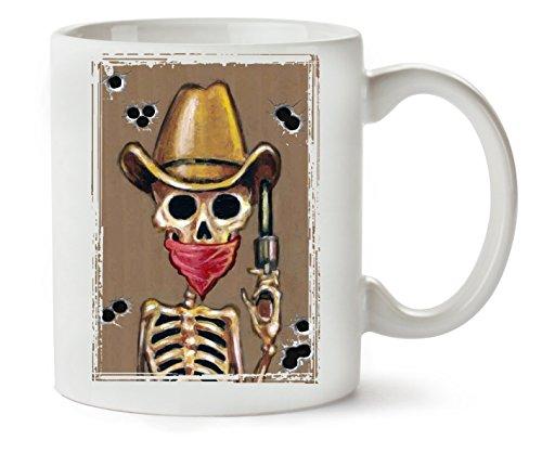 MugsWorld Cowboy Skull Vintage Style Guns Bullets Funny Jokes from Western Klassische Teetasse...