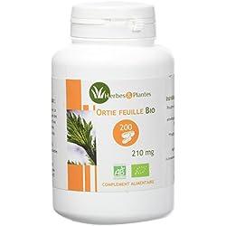 Herbes Et Plantes Ortie Bio Feuille 200 Gélules Végétales 210 mg