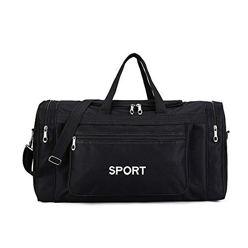 CoRxg Persönlichkeit Sporttasche for Männer Frauen, Reise Weekender Sports Workout Duffel Schwimmsporttasche Reisen Necessities (Farbe : Schwarz, Größe : 58x24x32cm)