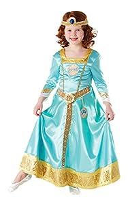 Rubies Disfraz Infantil Marca S, de la Princesa Merida, fastuoso y Decorativo, Oficial de Disney.