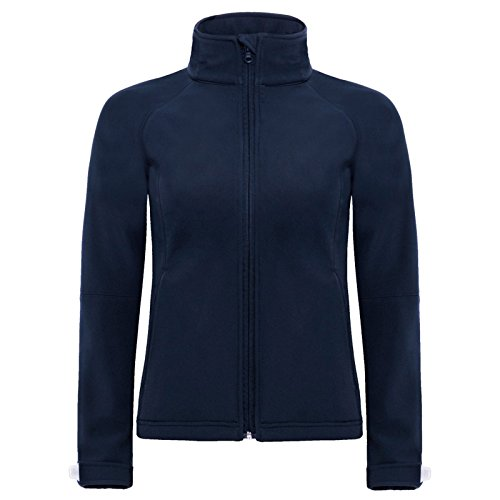 B&C Collection Damen Modern Kapuzenpullover Gr. S, navy (Duck Jacket Brown Hooded)