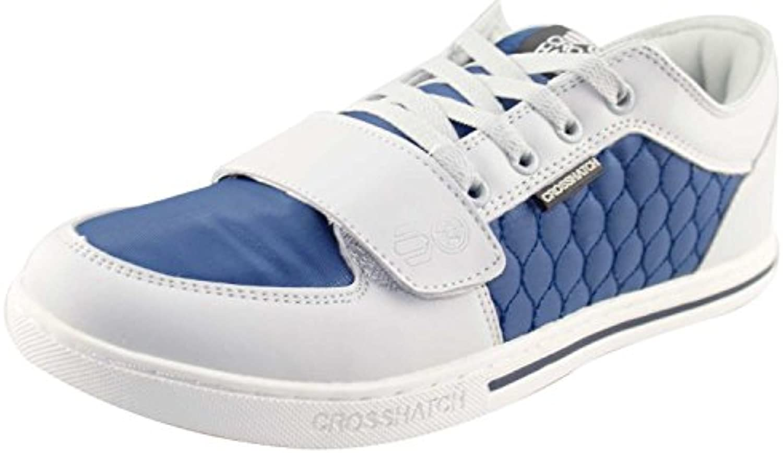 Mens Schraffur Designer Low gesteppte Trainer Sneakers UK 7 11 Freizeitschuhe