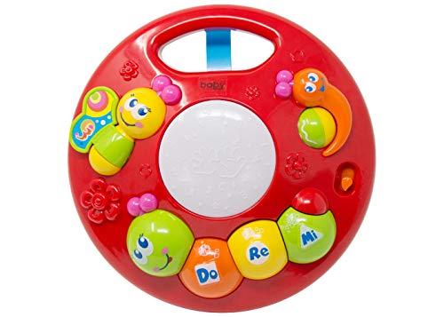 Laufgitter Spielzeug - Aktivitäten Center - Laufgitter Spielzeug accessory - Activity-Spieltier/Motorikspielzeug zum Aufhängen, Greifen und Geräusche erzeugen/Für Babys und Kleinkinder ab 0+ Monaten
