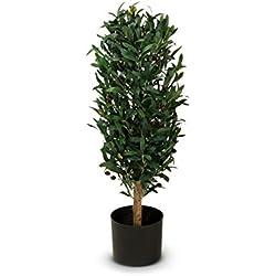 Olivenbaum Kunstpflanze MARTIN Kunstbaum, künstlicher Olivenbaum, 35x35x90 cm (L/B/H)