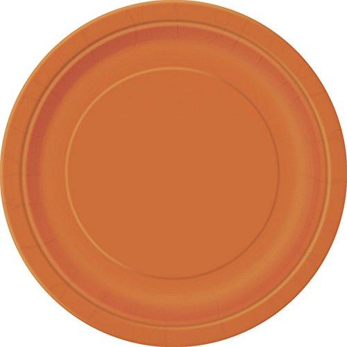 Supplies Party Orange (Unique Party Papier Teller (16 Stück) (Einheitsgröße))
