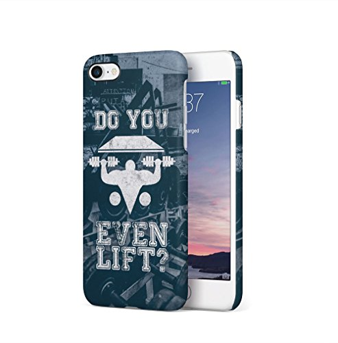 Gym Train Insane Or Remain The Same Apple iPhone 7 / iPhone 8 SnapOn Hard Plastic Phone Protective Custodia Case Cover Do You Even Lift
