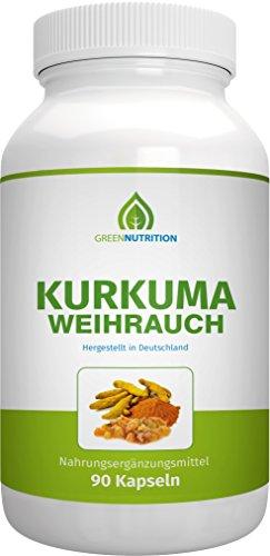 Green Nutrition | Kurkuma / Weihrauch - 90 Kapseln
