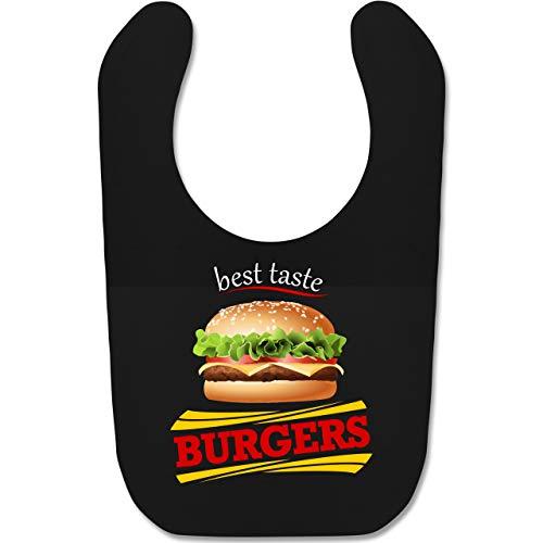 Schwarze Burger Kostüm - Shirtracer Karneval und Fasching Baby - Burger Kostüm - Unisize - Schwarz - BZ12 - Baby Lätzchen Baumwolle