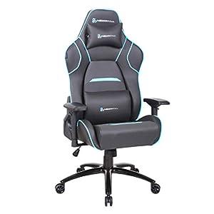 Newskill Valkyr – Silla gaming profesional con asiento microperforado para mejor sensación térmica (sistema de balanceo y reclinable 180 grados, reposabrazos 4D) – Color Blanco
