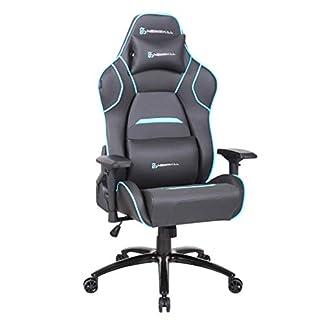Newskill Valkyr – Silla gaming profesional con asiento microperforado para mejor sensación térmica (sistema de balanceo y reclinable 180 grados, reposabrazos 4D) – Color Azul