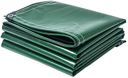 JYFSYB - Telone di Copertura in PVC, Impermeabile, antistrappo, per mobili da Giardino, Legno, Piscina, Auto, con Occhielli, Colore: Verde, Peso: 400 g/l, 5mx6m