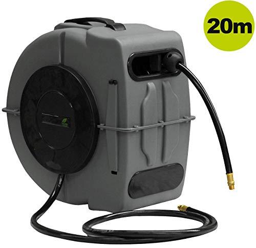 YERD Automatik Luftschlauch-Trommel inkl. 19+1m Druckluftschlauch (20m (19+1m))