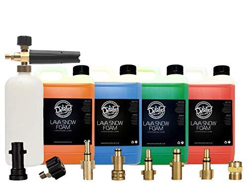 DetailedOnline Schneeschaum-Lanze + Plus 10 l Lava Schneeschaum - passend für alle Hochdruckreiniger