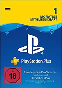 PlayStation Plus 1 Monat Mitgliedschaft - 1 Monat Edition   PS4 Download Code - deutsches Konto
