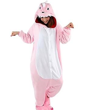 Aivtalk Unisex Tierkostüme Pyjamas Flanell Schlafanzug Nachtwäsche Kostüme für Fasching Kinderparty Karneval Beste...
