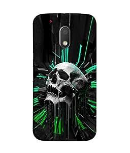 PrintVisa Designer Back Case Cover for Moto G4 Play (crying image of skull head)