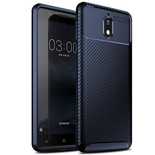 GeeMai Nokia 3.1 Hülle, Nokia 3 2018 Hülle, [Blau Soft Hülle] Ultra Thin Silikon Schutzhülle Tasche Soft TPU Hüllen Handyhülle für Nokia 3.1/Nokia 3 2018 Smartphone
