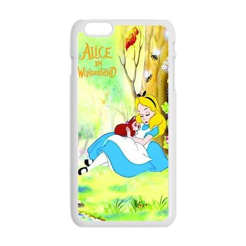 Alice In Wonderland Design Durable TPU Coque de protection pour Apple iPhone 6Plus, iPhone 6Plus, iPhone 6Plus 5.5Étui cover case (Blanc/Noir)
