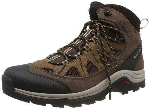 Salomon Authentic LTR GTX, Scarpe da Escursionismo Uomo, Nero (Black Coffee/Chocolate Brown/Vintage Kaki), 48 2/3 EU