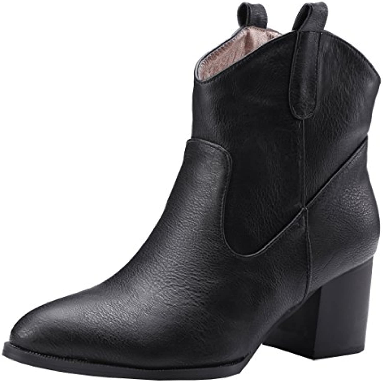 5e42948ba48 Artfaerie Shoes Women s Cowboy Block Heel Ankle Boots Pointed Boots Toe  Westen Cowboy Boots Slip On Warm Work Shoes B07FZYT4K9 Parent 536f530 ...
