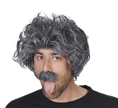 Andrea Moden Einstein Perücke mit Bart - Grau - Tolle Ergänzung zu Ihrem Kostüm als verrückter Professor, Opa oder kauziger Reporter zu Fasching, Mottoparty und Junggesellenabschied