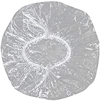 Disposable Shower Caps ,Clear Plastic Caps For Spa ,Home Use,Hotel and Hair Salon,Pack of 100