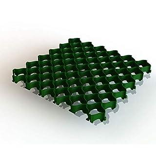 Rasengitter, Bodengitter, 500 x 500 x 36 mm mit Clipsystem ohne Bodenanker, Kunststoff, ab 8 Stück (8, grün)